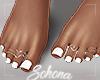 ṩ| White Pedicure by Sohona